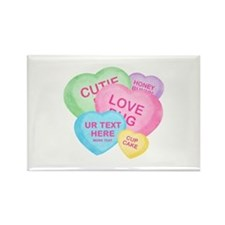 Fun Candy Hearts Personalized Rectangle Magnet (10