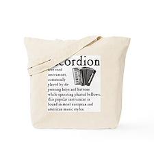 Piano Accordion Definition Tote Bag
