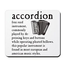 Piano Accordion Definition Mousepad