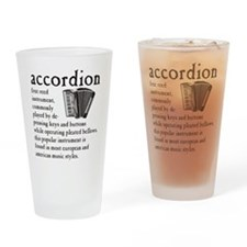 Piano Accordion Definition Drinking Glass