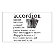 Piano Accordion Definition Decal