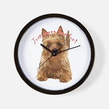 aussie terrier Wall Clock