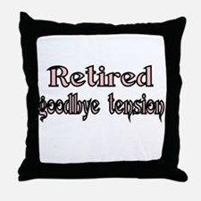 Retired. goodby tension Throw Pillow