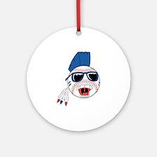 Punk Baseball Ornament (Round)