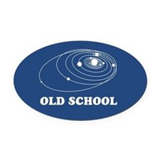 Old School Solar System Oval Car Magnet