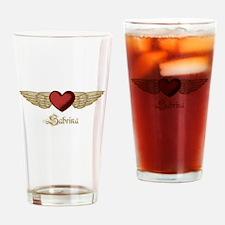 Sabrina the Angel Drinking Glass