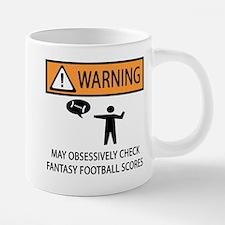 Checks Fantasy Football Scores Mugs