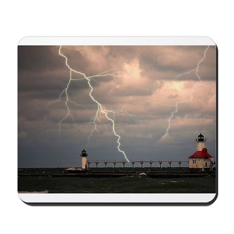 stormy lighthouse Mousepad