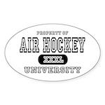Air Hockey University Oval Sticker