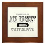Air Hockey University Framed Tile
