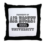 Air Hockey University Throw Pillow