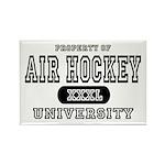 Air Hockey University Rectangle Magnet