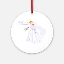 Bride Redhead Ornament (Round)