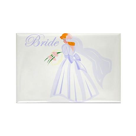 Bride Redhead Rectangle Magnet