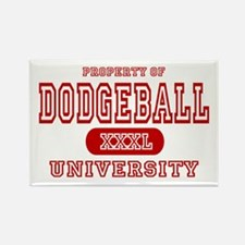 Dodgeball University Rectangle Magnet