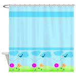 Cute Cartoon Garden Shower Curtain