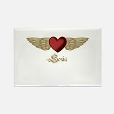 Sonia the Angel Rectangle Magnet