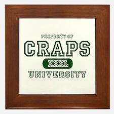 Craps University Framed Tile