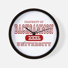 Backgammon University Wall Clock