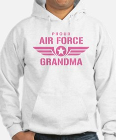 Proud Air Force Grandma W [pink] Hoodie