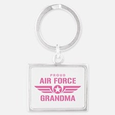 Proud Air Force Grandma W [pink] Landscape Keychai