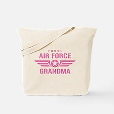Proud Air Force Grandma W [pink] Tote Bag