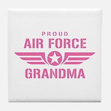 Proud Air Force Grandma W [pink] Tile Coaster