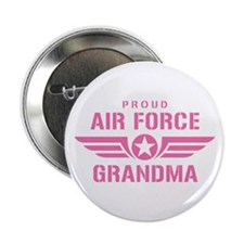 """Proud Air Force Grandma W [pink] 2.25"""" Button"""
