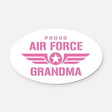 Proud Air Force Grandma W [pink] Oval Car Magnet