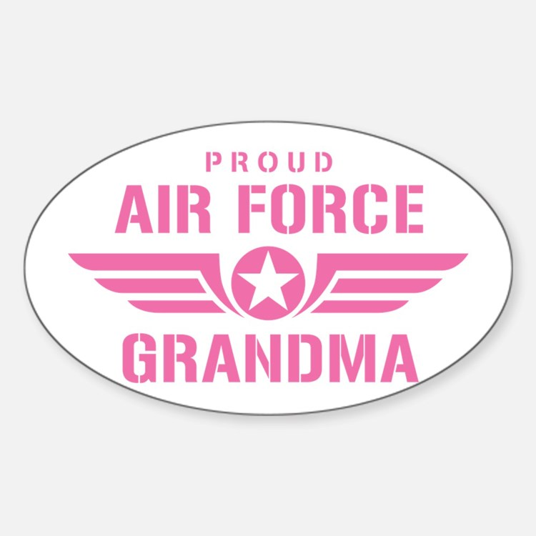 Proud Air Force Grandma W [pink] Decal