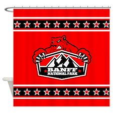 Banff Red Bear Shower Curtain