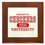 Checkers University Framed Tile