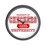 Checkers University Wall Clock