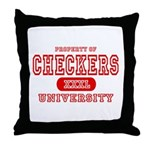 Checkers University Throw Pillow