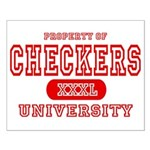 Checkers University Small Poster