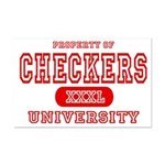 Checkers University Mini Poster Print