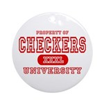 Checkers University Ornament (Round)