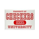 Checkers University Rectangle Magnet