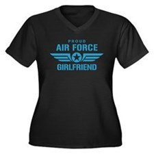 Proud Air Force Girlfriend W Women's Plus Size V-N