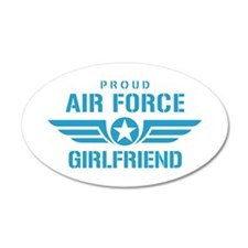 Proud Air Force Girlfriend W Wall Decal