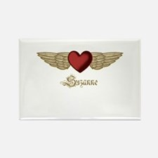 Suzanne the Angel Rectangle Magnet