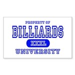 Billiards University Rectangle Sticker