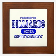 Billiards University Framed Tile