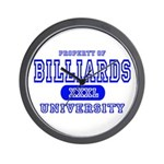 Billiards University Wall Clock