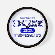 Billiards University Wall Clock