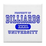 Billiards University Tile Coaster