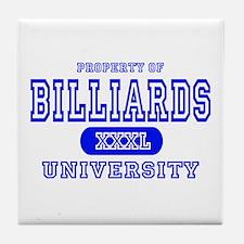 Billiards University Tile Coaster