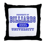 Billiards University Throw Pillow