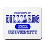 Billiards University Mousepad