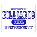 Billiards University Small Poster